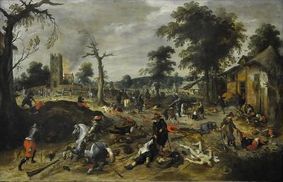800px sebastiaan vrancx 1573 1647 de plundering van wommelgem 1625 1630 dusseldorf museum kunstpalast 15 08 2012 15 08 12